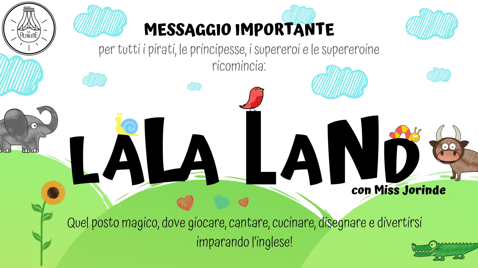 🇺🇸LaLa Land-Inglese 4-6 anni🇺🇸 @ Le Altalene